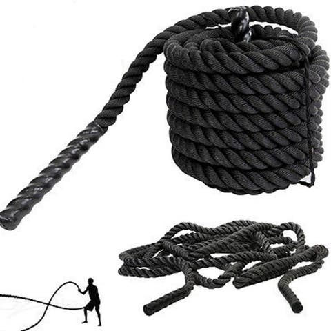 1.5 Inch Heavy Battle Exercise Training Rope 30ft/40ft Length for Strength Training Home Gym Outdoor Cardio Workout