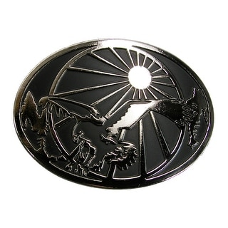 Chrome Men's Eagle and Sun Belt Buckle - Silver - One Size