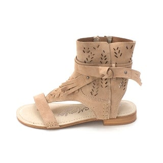 Naughty Monkey Womens cochise Leather Open Toe Casual T-Strap Sandals - 7.5