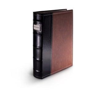 Bellagio-Italia Brown Leather CD/DVD Binder Holds 48 discs.