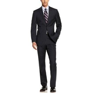 Tommy Hilfiger 'Keene' Wool 2-pc Suit 38 Long 38L Navy Striped Pants 32W