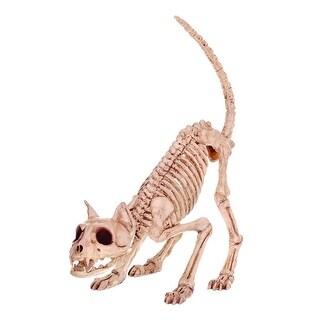 "Seasons Z28043 Halloween Skeleton Cat, Bone, 7"" H x 6"" W x 20"" L - Bone"