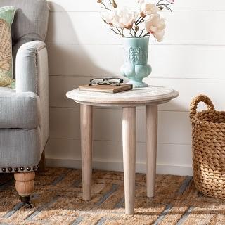 Safavieh Rehnuma Carved Side Table