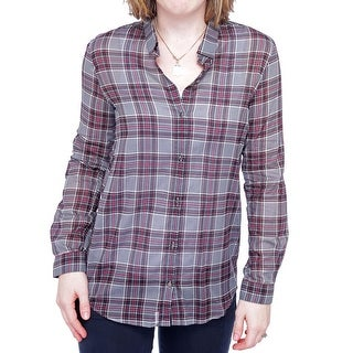 The Kooples FCC765 Long Sleeve Collared Button Down Women Button Down