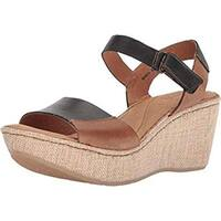 B.O.C Womens Nectar Leather Open Toe Casual Platform Sandals