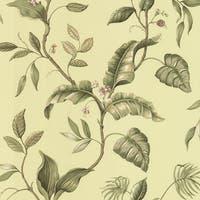 Brewster DLR58422 Eldora Green Evening Tropics Leaves Wallpaper - green evening tropics
