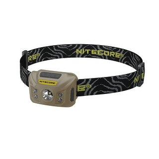 NITECORE NU30 White/Red/High CRI Output Rechargeable Headlamp (Tan)