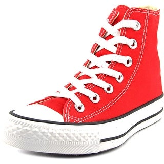 Converse Chuck Taylor All Star Hi Women Round Toe Canvas Red Sneakers