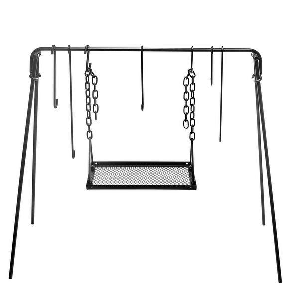 Bruntmor's Camping Cookware Swing Set - Grill Swing Campfire Cooking Stand BBQ Grill. Opens flyout.