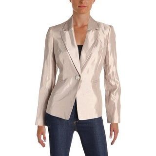Le Suit Womens St Augustine One-Button Blazer Metallic Shimmer - 4