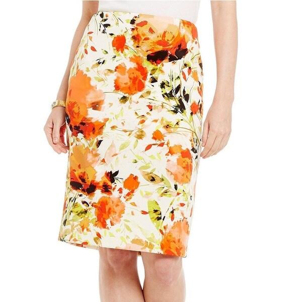 b93d940b05 Kasper NEW Beige Women's Size 12P Petite Floral Straight Pencil Skirt