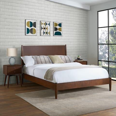 Landon Full Queen Bed In Mahogany