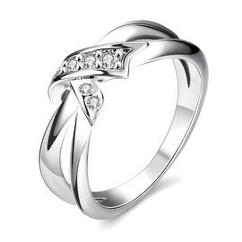 Bow-Tie White Gold Ring