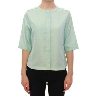 CO TE CO TE Green silk button down shirt - it44-l