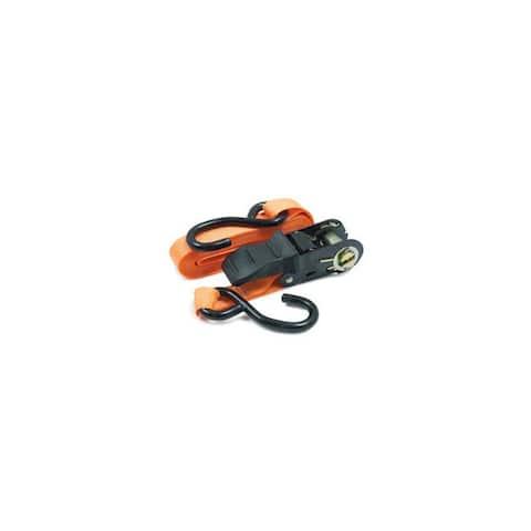 Roadpro r rprtd01 1x15 ratchet tie-down with anti-scratch hooks orange