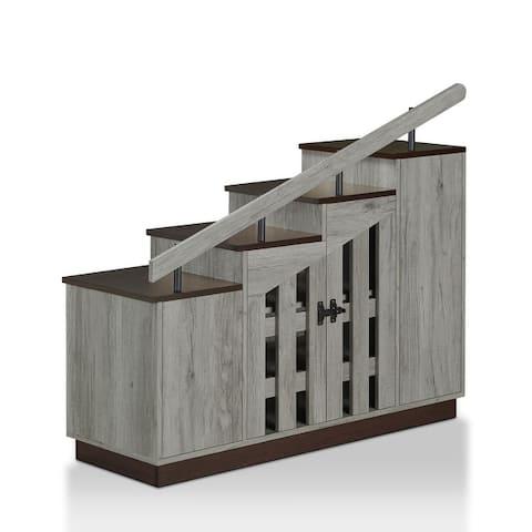 Furniture of America Garner Rustic Shoe Storage Cabinet