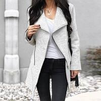 Zipper Closure Outwear Coat