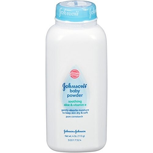 Johnson's Baby Powder with Soothing Aloe and Vitamin E, 4 Ounce