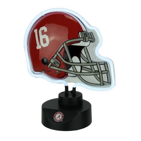 University of Alabama Crimson Tide Football Helmet Neon Tabletop Sculpture - Red - 12 X 10.5 X 5 inches