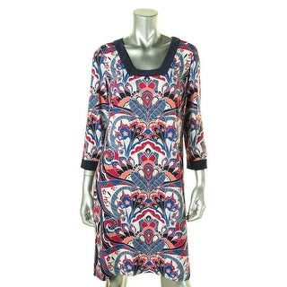 Laundry by Shelli Segal Womens Casual Dress Printed Square Neck