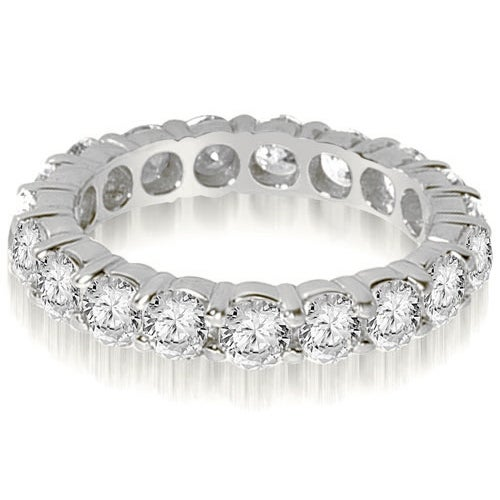 2.20 cttw. 14K White Gold Round Shared Prong Diamond Eternity Ring