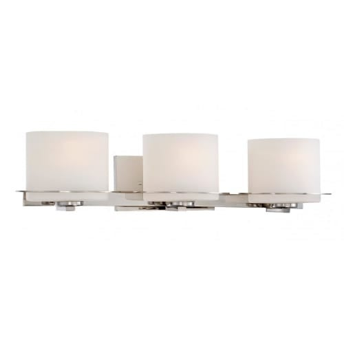 Nuvo Lighting 60/5103 Loren Three-Light Bathroom Fixture with Oval Frosted Glass Shades