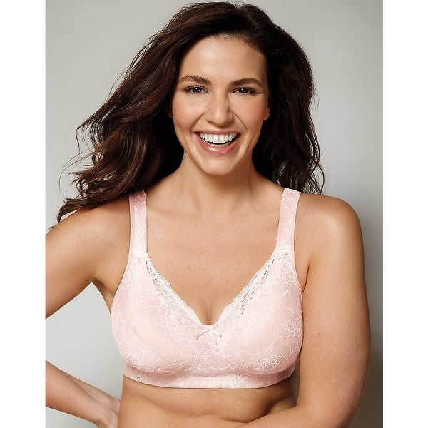 Playtex 18 Hour Perfect Lift Wirefree Bra with Inner BoostU®; Panels - Size - 36C - Color - Vintage Pink/Mother of Pearl