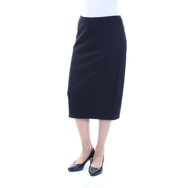 6dc3f166e1044 RALPH LAUREN Womens Black Zippered Pencil Wear To Work Skirt Size: S