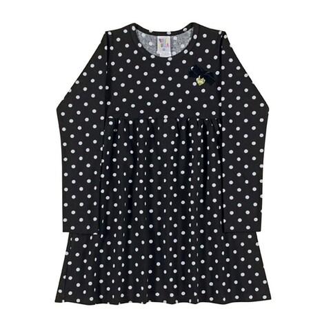 Girls Dress Long Sleeve Polka Dot Dress Kids Pulla Bulla Sizes 2-10 Years