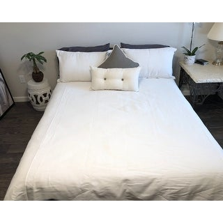 Siscovers Everlast Stain Resistant 6 Piece White Duvet Cover Set