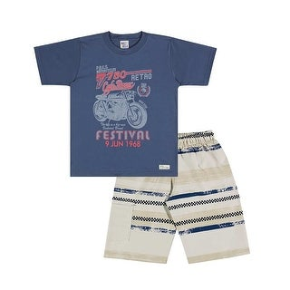 Boys Outfit Graphic Tee Shirt and Shorts Kids Set Pulla Bulla Sizes 2-10 Years