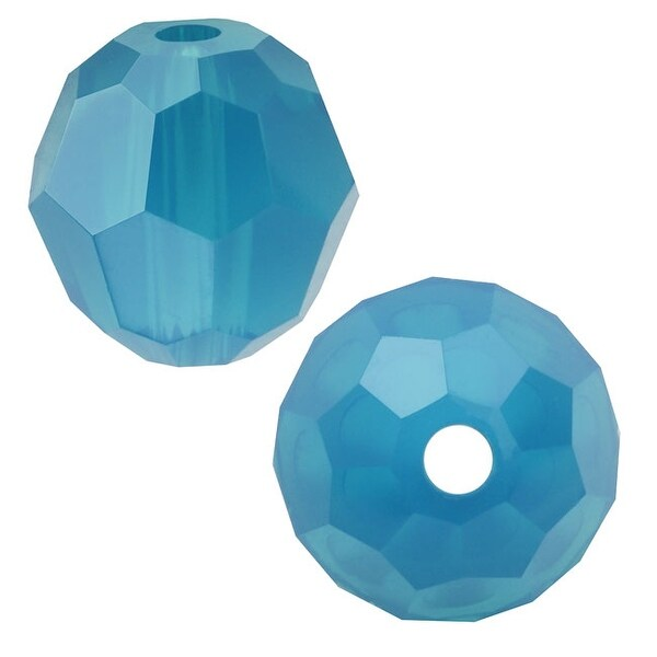 Swarovski Elements Crystal, 5000 Round Beads 6mm, 10 Pieces, Caribbean Blue Opal