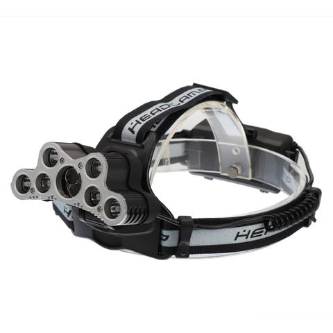 120000LM 6 Modes 9 LED USB Rechargeable Strong Headlamp Set