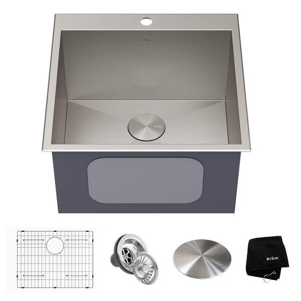 KRAUS Standart PRO Stainless Steel Topmount Drop-In Kitchen Sink. Opens flyout.