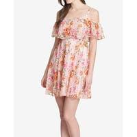 Kensie Pink Floral Lace Cold-Shoulder Women's Size 6 Sheath Dress