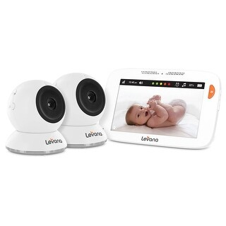 "Levana Shiloh 5"" Touchscreen Video Baby Monitor with 2 Cameras and 12 Hour Battery Life"