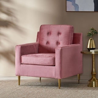 Link to Hanlon Modern Glam Tufted Velvet Club Chair by Christopher Knight Home Similar Items in Living Room Chairs