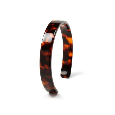 Fashion Brown Golden Acrylic Tortoise Shell Cuff Bangle Bracelet For Women