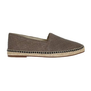 Dolce & Gabbana Gray Leather Woven Loafers Espadrilles - eu43-us10