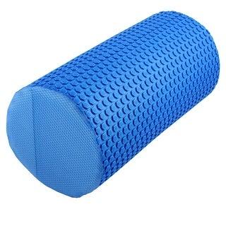 Training Yoga Pilates Foam Muscle Massage Stiffness Roller Blue 30cm Length