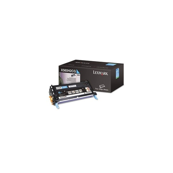 Lexmark X560H2CG High Yield Cyan Toner Cartridge For X560n - 10000 Pages