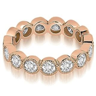 2.10 cttw. 14K Rose Gold Round Diamond Eternity Ring