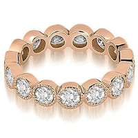2.10 cttw. 14K Rose Gold Round Diamond Eternity Ring