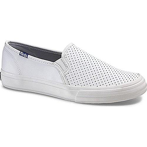 79a7f7f1544 Shop Keds Womens Double Decker Perf Leather Low Top Slip On Fashion Sneakers  - Free Shipping On Orders Over  45 - Overstock - 21138204