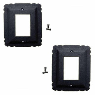 2 Switchplate Black Steel SIngle GFI RSF