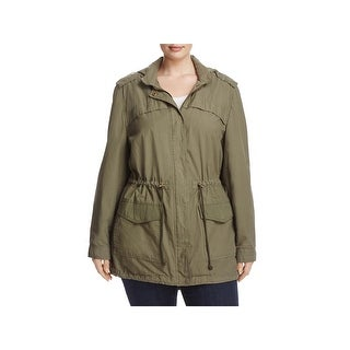 Bagatelle Womens Plus Anorak Jacket Adjustable Hooded (2 options available)