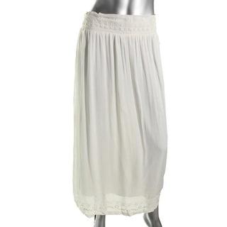 Zara Basic Womens Embroidered Maxi Straight Skirt - S