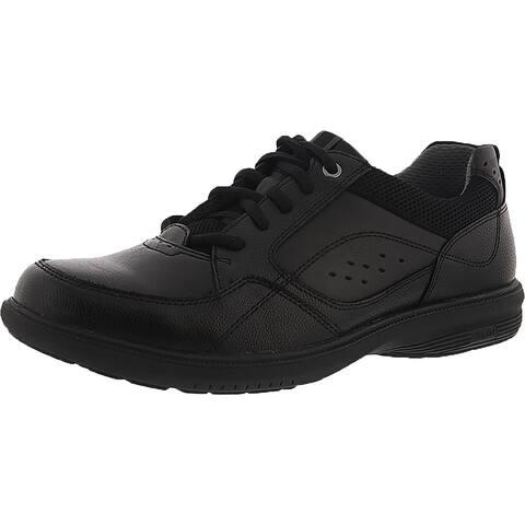 Nunn Bush Mens Kore Walk Oxfords Faux Leather Moc Toe - Black - 10 Extra Wide (E+, WW)
