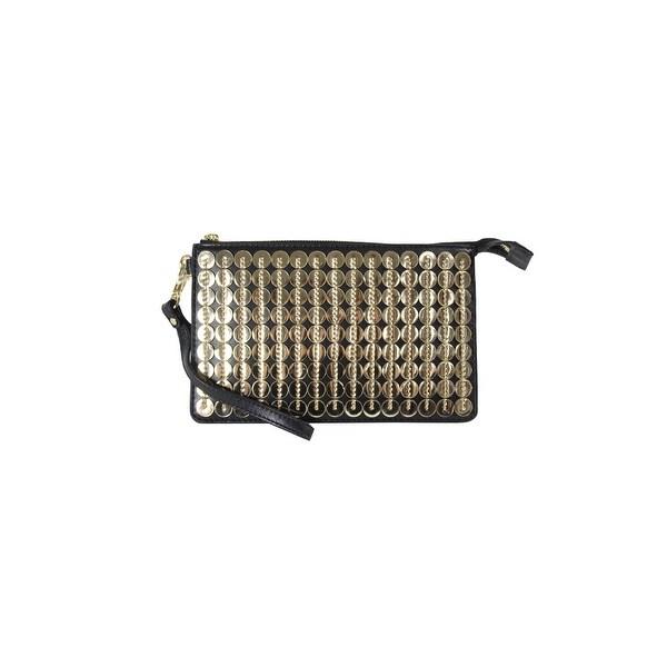 1484888c498d Shop Michael Michael Kors Black Gold Sequin Wristlet OS - Free ...