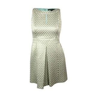 Lauren Ralph Lauren Women's Bateau Keyhole Jacquard Dress